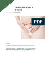 Tratamientos Alternativos Para La Resequedad Vaginal