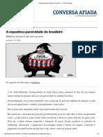 A Espantosa Passividade Do Brasileiro — Conversa Afiada