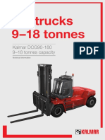 Tech Specs for Forklift 9-19 Tons