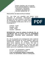 Preguntas Base Estructurada Art. 52 - 57
