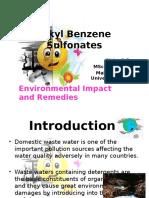 Alkyl Benzene Sulfonate s