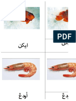 Fruit, Vegetable, And Sea Animal Jawi