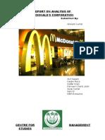 Report on McDonalds