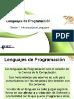 Historia de Lenguajes de Programacion