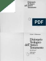JENNI - WESTERMANN (1978) Dizionario Teologico Dell'at (Vol I)