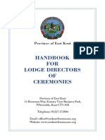 Lodge Director of Ceremonies Handbook