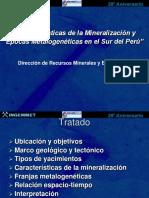 1.- Epocas Metalogenicas Peru