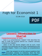 Fiqh for economist