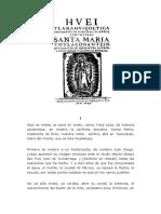 Nican Mopohua - Relato de Las Apariciones de Santa Maria de Guadalupe