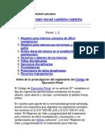 Regimen Penitenciario Peruano