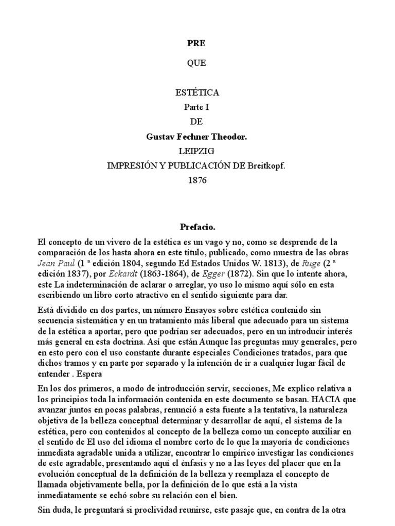 Estetica 01cast. Gustav T. Fechner