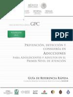 prevención detección y consejeria en tratamiento de adicciones