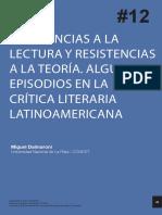 Dalmaroni - Resistencia a La Lectura