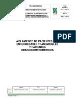 Aislamiento en Pacientes Con Enfermedades Trasmisibles e Inmunocomprometiso