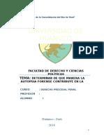 Trabajo de Determinar de Que Manera La Autopsia Forense Contribuye en La Administracion de Justicia - Mfg