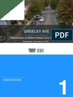 Greeley Avenue Traffic Circles Plan