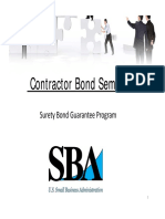 Surety Bond Guaranty Program