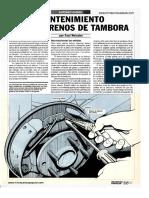 Mantenimiento Frenos de Tambora Junio 1992
