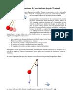 Ecuaciones del movimiento, Newton