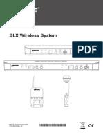 SHURE-BLX Wireless User Guide English