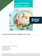 Alimentación saludable, una guía útil para veraneo