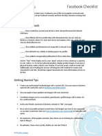 Getting Started with Facebook (Checklist)