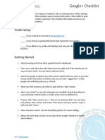 Getting Started with Google+ (Checklist)