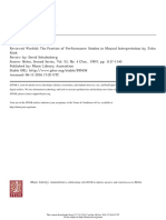 The Practice of Performance Studies in Musical Interpretation Review