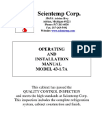 Scientemp 43-1.7 Manual, Operating and Installation Manual