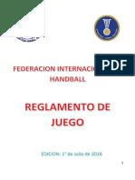 Reglas Handball 2016 ESP