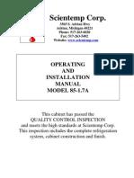 Scientemp 85-1.7 Manual, Operating and Installation Manual