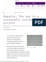 Empathy the Key to a Successful Software Project - Oreilly Media
