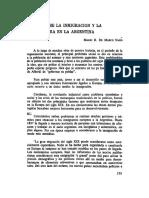Notas Sobre La Inmigracion y La Agricultura en La Argentina