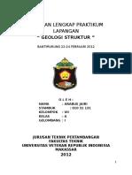 Laporan Lengkap Praktikum Lapangan Geologi Struktur