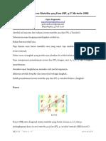 9 Langkah Invers Matriks 4x4 Dan SPL 4 Variabel Metode OBE
