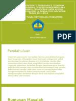 Pengaruh Corporate Governance Terhadap Kinerja Perusahaan Dengan Manajemen