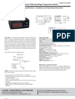 Scientemp - Series TSS2 Dual Stage Temperature Switch Specifications - Installation and Operating Instructions, Manual