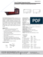 Scientemp - Series TS Digital Temperature Switch Specifications - Installation and Operating Instructions, Manual