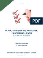 Plano de Estudos VESTGEEK 24 Semanas ENEM