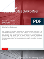 Oracle PaaS Welcome Aboard CSM V1.6