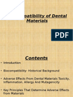 bio compatibility of dental materials