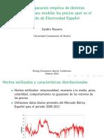 Modelado de precios spot de electricidad