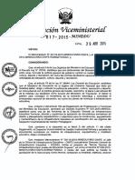 Norma Técnica de Infraestructura para Locales de Educación Superior 017-2015-minedu