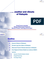 Trend of rainfall