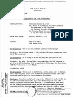 Ford,Kissinger,Brent Scowcroft Coversation on South Vietnam (25-4-1975)