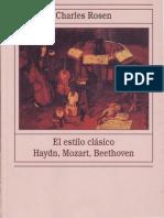 Charles Rosen El Estilo Clasico Haydn, Mozart, Beethoven
