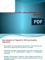 Taguchi's Approach,Costs of Quality and VA