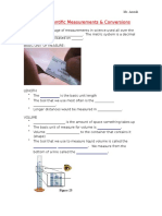 Measurement Conversion Notes Guided