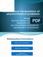 Mathematical Formulation of Physiochemical Problems (1)