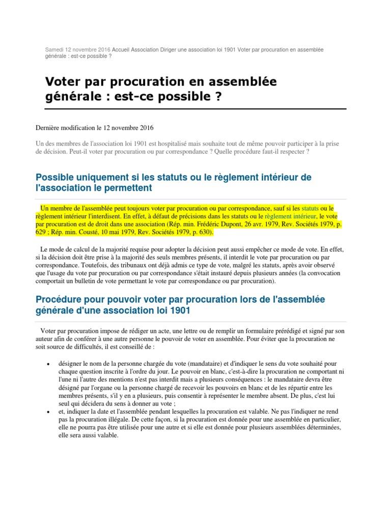 Ebook Procuration Generale